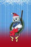 Jul stjärna och snögubbe Royaltyfri Bild