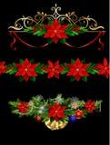 Jul ställde in beståndsdelar för dina designer Royaltyfria Bilder