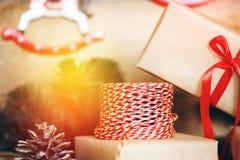Jul stoppar för gåvor Arkivfoto