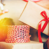 Jul stoppar för gåvor Royaltyfria Bilder
