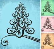 jul stylized tree Arkivbild