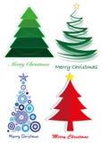 jul stylized tree Arkivfoton