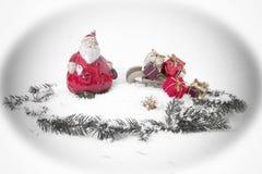 Jul tajmar och gåvor, julkort Royaltyfria Bilder