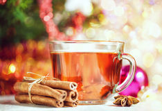 Jul te och kryddor fotografering för bildbyråer