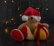 Jul Teddy Bear Arkivfoton