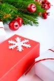 Jul tema för nytt år celebratory bakgrund Gåvaaskar, G Royaltyfria Foton