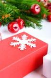 Jul tema för nytt år celebratory bakgrund Gåvaaskar, G Royaltyfri Foto