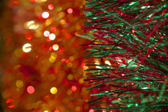 Jul Tinsel Decoration Royaltyfria Foton