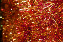 Jul Tinsel Decoration Fotografering för Bildbyråer