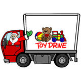 Jul Toy Drive Royaltyfria Foton