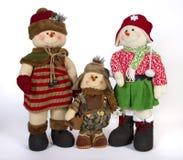 Jul Toy Family Decoration Arkivfoto