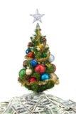 Jul tree&dollars-2 Royaltyfria Bilder