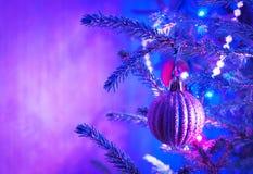 Jul-tree garneringar Arkivbilder