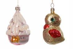 Jul-tree garneringar. royaltyfria bilder