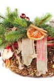 Jul-treen förgrena sig dekorerat Royaltyfri Foto