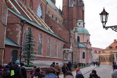 9 12 2017 jul Wroclaw - Polen Royaltyfri Foto