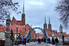 9 12 2017 jul Wroclaw - Polen Arkivbild