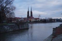 9 12 2017 jul Wroclaw - Polen Arkivfoto