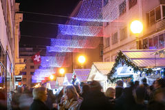 JulAdvent i Zagreb Royaltyfri Fotografi