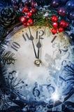 Julafton och nya år på midnatt Royaltyfria Foton
