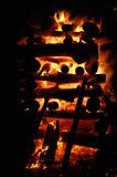 Julaftonbrand Arkivfoton