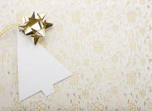 Julanmärkningskort Arkivbild