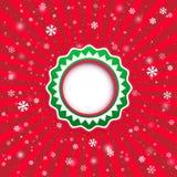 Julappliquebakgrund. Vektorillustration för din desi Royaltyfria Bilder