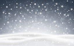 Julbakgrund av fallande snö abstrakt vinter för fractalbildnatt Illustration för vektor för Xmas-kortdesign vektor illustrationer