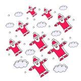Julbakgrund av Santa Clauses Arkivfoto