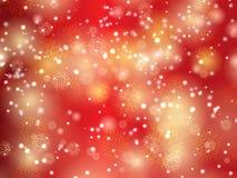 Julbakgrund av snöflingan och stjärnor Arkivbilder
