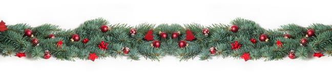 Julbakgrund, baner Fotografering för Bildbyråer
