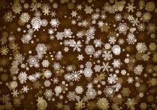 Julbakgrund eller kort med handdrawn snöflingor som faller för inbjudan- eller xmas-feriehälsningar vektor illustrationer