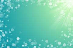 Julbakgrund för kortet för din designakvamarinfärg Royaltyfria Bilder