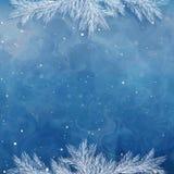 Julbakgrund, gränsar, ramar, sörjer ris royaltyfri illustrationer