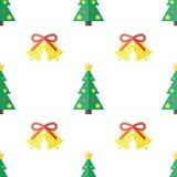 Julbakgrund i plan stil Royaltyfri Foto