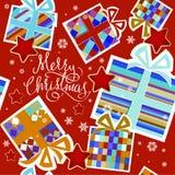 Julbakgrund - illustration Arkivfoto