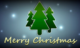 Julbakgrund med bilden av tre julgranar Arkivbild