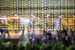 Julbakgrund med bokehljus Royaltyfri Bild