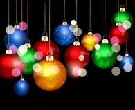 Julbakgrund med bollar royaltyfri illustrationer