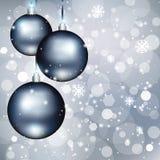 Julbakgrund med bollar Fotografering för Bildbyråer
