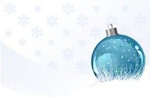 Julbakgrund med bollen Royaltyfri Bild