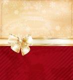 Julbakgrund med bowen royaltyfri illustrationer