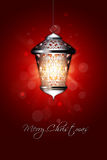 Julbakgrund med den skinande lyktan royaltyfri illustrationer
