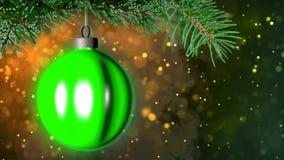 Julbakgrund med den trevliga tolkningen för boll 3D Royaltyfri Foto