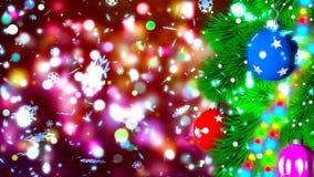Julbakgrund med den trevliga tolkningen för bollar 3D Royaltyfri Foto