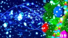 Julbakgrund med den trevliga tolkningen för bollar 3D Royaltyfria Foton