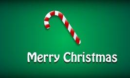 Julbakgrund med en härlig bild av en läcker godis Royaltyfri Foto