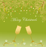 Julbakgrund med exponeringsglas Fotografering för Bildbyråer