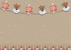 Julbakgrund med garneringen Royaltyfri Fotografi