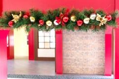 Julbakgrund med granträdet, struntsaker Royaltyfria Foton